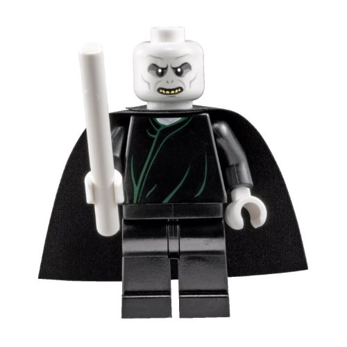 LEGO Harry Potter: Lord Voldemort Minifigura Con Color Blanco Varita Mágica