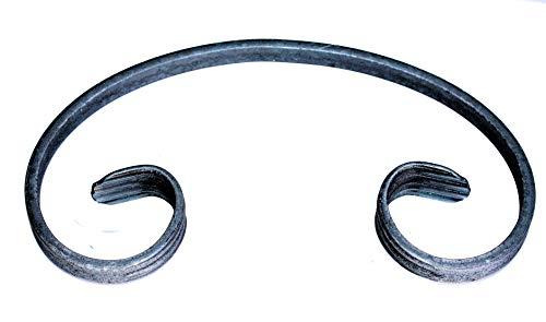 UHRIG ® C Schnörkel Bogen schmiedeeisen 12x6mm Zierelement Stahl Eisen für Zaun Geländer (220x120mm)