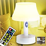 WRalwaysLX Bedside Table Lamp with Timer Night Light Battery Operated lamp for Bedroom