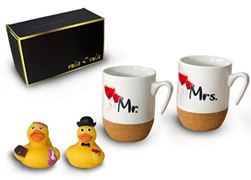 MIAMIO - Mr & Mrs Set Regalo Tazze da caffè (Coppia II)