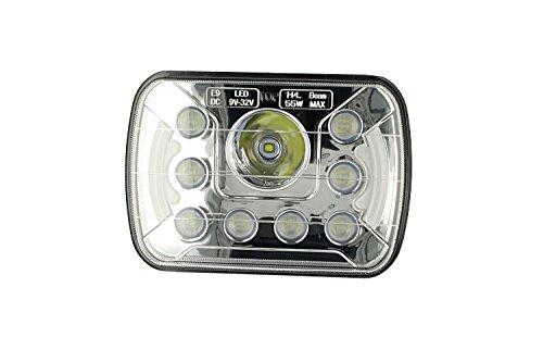 Carall FS0310 - Faro LED para camión con luces diurnas DRL, LED, 7 pulgadas, 55 W, 12 V, 24 V, para camión con luces diurnas DRL, LED, homologado, E9