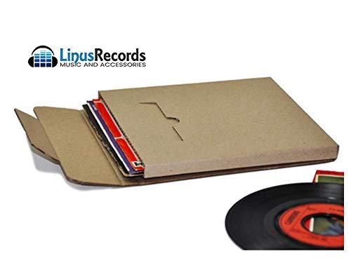 """LinusRecords 30 scatole in cartone rigido per spedire dischi in vinile (capienza 7 dischi 7"""")"""