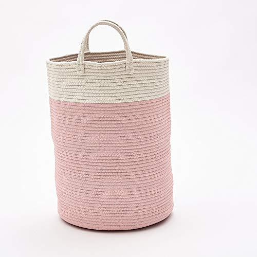 Panier de rangement tissé - Corde de rangement et organisateur pour linge, jouets et couvertures de bébé (3, L)