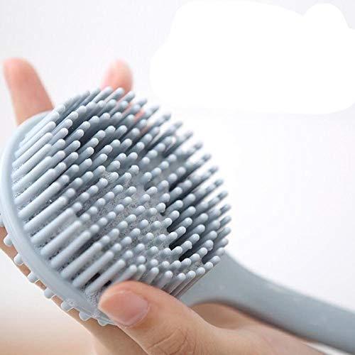 Preisvergleich Produktbild Silikon Bad Artefakt Langen Griff Badebürste Reiben Badetuch Reiben Rücken Reiben Schlamm Nicht nach Rücken weichen Haar Badebürste Fragen
