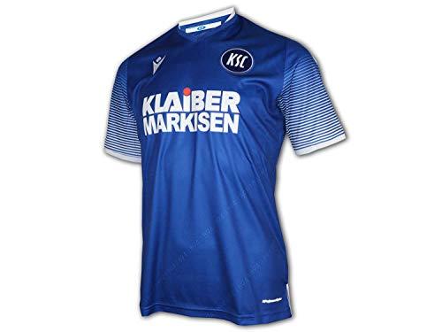 Macron Karlsruher SC Matchday Home Shirt blau KSC Fußball Trikot Fan Jersey, Größe:S