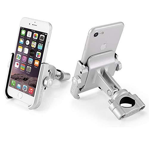 SJMLP Mobiele telefoonhouder Motorfiets Fiets Telefoonhouder met USB-oplader Stuurbeugel voor Auto Motorbike GPS Stand voor 4 6 inch Mobiele Telefoon