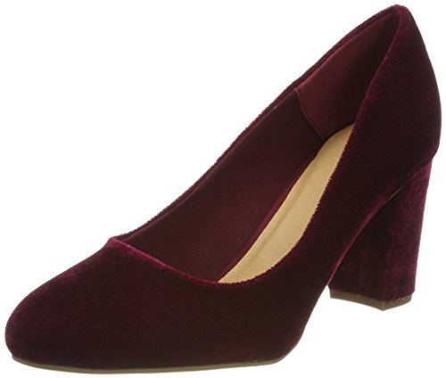 Bianco Damen Klassischer Samt Pumps, Rot (WineRed), 39 EU