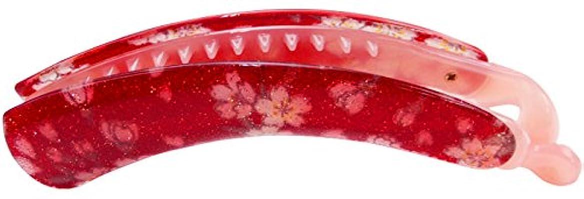 排泄するプラスチックけがをするhaclm679nn002 ヘアアクセサリー 髪飾り (リトルムーン) バナナクリップ 花弥乃 -かやの- 002