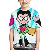 Hdadwy Teen Titans Go Cosy KurzarmT-Shirt mit GrafikT-Shirt für Jungen und Mädchen