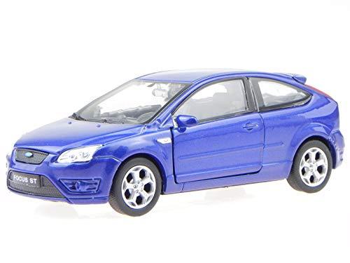 Welly Ford Focus ST 3-Türer blau Modellauto 42378 1:34