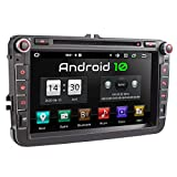 XOMAX XM-11GA Radio de Coche con Android 10 Adecuado para VW Seat Skoda I 4Core, 2GB RAM, 32GB ROM I GPS I Soporte WiFi, 3G, 4G, Dab+, OBD2 I Bluetooth I 8' Pantalla Táctil I DVD, CD, USB, SD, RDS