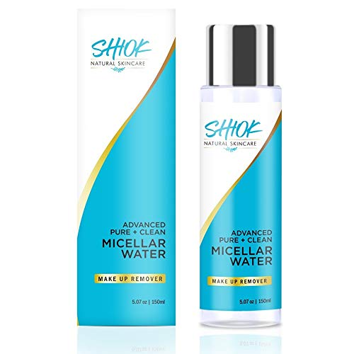 ADVANCED PURE + CLEAN MICELLAR WATER, 3-IN-1 Toner, Face Cleanser, and Effective Rinse Free Makeup Remover, Mascara and Eye Makeup remover. For All Skin Types including Sensitive Skin.