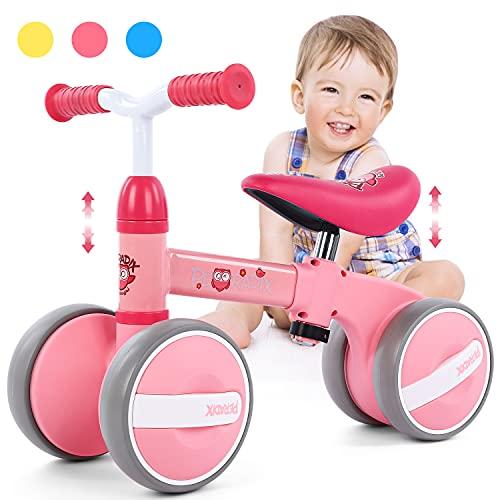 Peradix Bicicletta Senza Pedali Bicicletta Equilibrio Bambino 1 Anno,Bici Senza Pedali Regalo Bambino 1 Anno Sella Regolabile Interno ed Esterno Prima Bici Regalo Triciclo Bambino (10-36 Mesi)