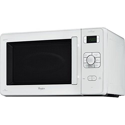 Whirlpool JC 218 WH – Micro-ondes, plan de travail, 1000 W, boutons, rotatif, blanc, 32 cm