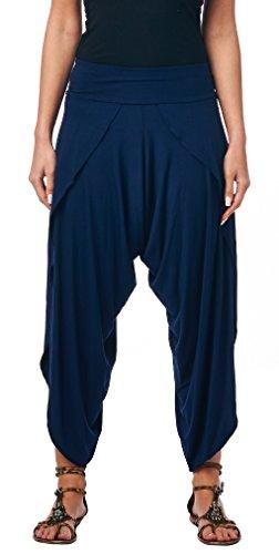 Popana Women's Casual Summer Boho Harem Jogger Pants Gaucho Culottes...