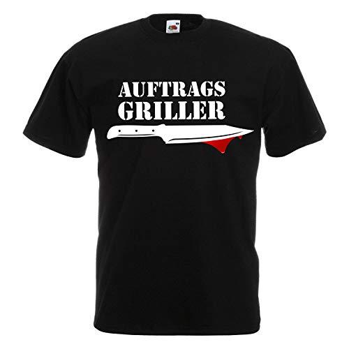 Grill T-Shirt Unisex für alle Grillmeister - lustige Fun Sprüche und schöne Motive für den nächsten Grillabend 013 Auftragsgriller L