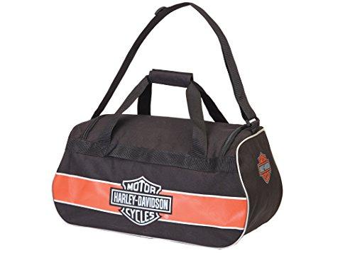 Harley Davidson Logo Sport Duffel/Rost/Schwarz Tasche, Rost/Schwarz (Braun) - 99418 Rust/Black