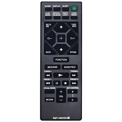AIDITIYMI RMT-AM330U Replacement Remote Fit for Sony Home Audio MHC-V13 MHC-V21 MHC-V71 MHC-V77W MHC-V50 SHAKE-X30 SHAKE-X10 MHC-V90W MHC-M20 Remote