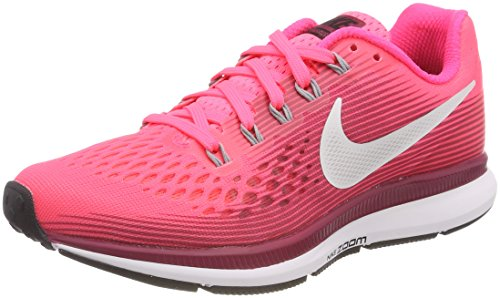 Nike Wmns Air Zoom Pegasus 34 Scarpe Running Donna, Multicolore (Racer Pink/Vast Grey 605) 36 EU