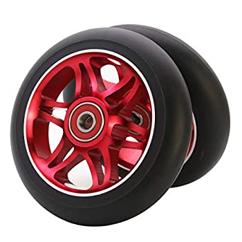 Z-FIRST 2Pcs 110mm Pro Scooter Wheels with ABEC 9 Bearings Fit for MGP/Razor/Lucky Envy/Vokul Pro Scooters Replacement Wheels  A-Red