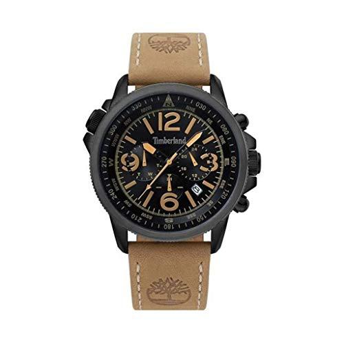 Timberland Reloj Analógico para Hombre de Cuarzo con Correa en Cuero TBL15129JSBU.02
