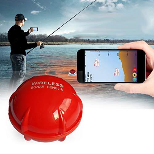 SummarLee Drahtloser Bluetooth-Fischfinder, Tragbarer Wi-Fi-Sonarfischdetektor, Weit Verbreitet Im iPhone Ipad IOS Android-Smartphone-Tablet