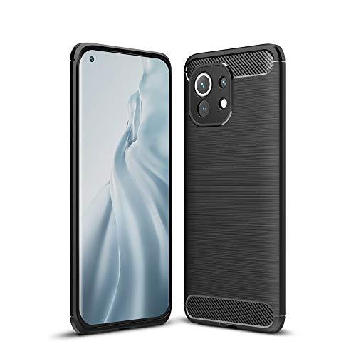 CoverKingz Funda para Xiaomi Mi 11 - Funda de silicona para teléfono móvil Mi 11, color negro