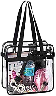 Bags for Less Clear Tote Stadium Approved with Handles And Zipper 12 inch x 12 inch x 6 inch
