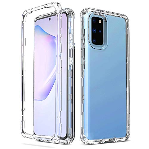 ULAK Galaxy S20+ 5G Case, Clear Designed Heavy Duty Shockproof Rugged Protection Case Transparent Soft TPU Phone Protective Cover for Samsung Galaxy S20 Plus/Galaxy S20+ 6.7 inch, Crystal Clear