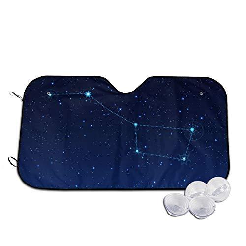 Grote beer sterrenbeeld nacht sterrenhemel voorruit zon schaduw vizier voorzijde venster glas voorkomen dat de auto van verwarming tot binnen gepersonaliseerd