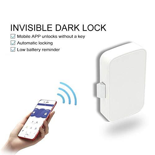 Smart Bluetooth APP-Fach-Verschluss Lockless Invisible Lock-File Cabinet Lock-Schrank sperren Schublade Switch/APP automatische Verwaltung