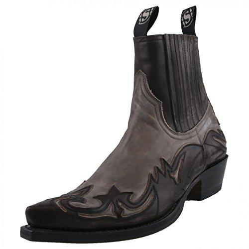 Sendra Stiefelette 4660-Olimpia Antracita grau, Schuhgröße:EUR 43