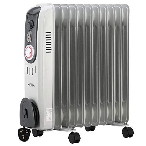 NETTA Oil Filled Radiator 2500W Portable...