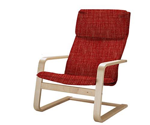 Vinylla Ikea - Funda de repuesto para sillón Pello (algodón de Tetrón, rojo)