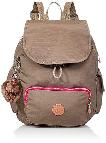 Kipling City Pack S, Mochila para Mujer, Marrón (True Beige C), 27x33.5x19 cm