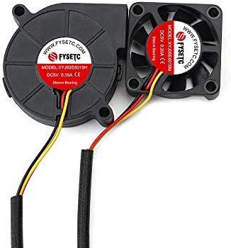 FYSETC Prusa i3 MK3 Cool Blower Fan Kit 4010 5015 DC 5V Extruder Hotend Cooler Radiator for product image