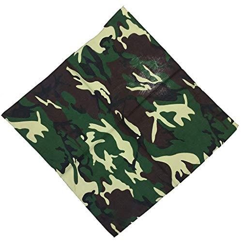 luosh Pañuelos Cuadrados Pañuelo Pañuelo Unisex Camuflaje Estampado Algodón Cuello Pañuelo Bufanda Pulsera Deportes Sombreros