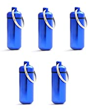 Grenhaven Mini pillendoos pillendoos Pillen Box Cash Stash zwart, zilver, rood, goud, blauw sleutelhanger opbergbox kleine waterdichte tabletdoos capsule pillen doos aluminium aluminium