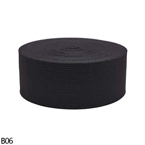 5 meter breedte 15/20/25/3/35/40 / 45mm zwart wit elastische band weven tape DIY naaien kleding accessoires hoofdband rok Craft, 4cm