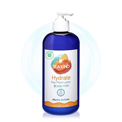 All Natural Hydrate Hand and Body Lotion for Women and Men, Sea Mist Essential Oil Scent 16 Fl Oz, Non Comedogenic, Vegan Moisturizer for Dry and Sensitive Skin, No Parabens, - Sea Kind