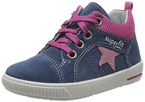 Superfit Baby Mädchen Moppy Lauflernschuhe Sneaker, Blau (Blau/Rosa 81), 24 EU