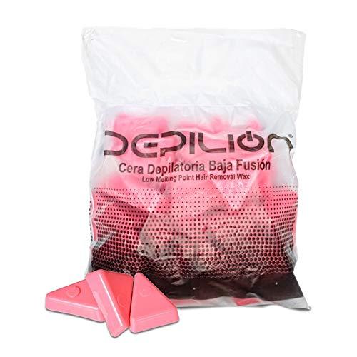 Cera caliente 1kg Rosa | Cera baja fusión para depilación 1000gr | para pieles sensibles