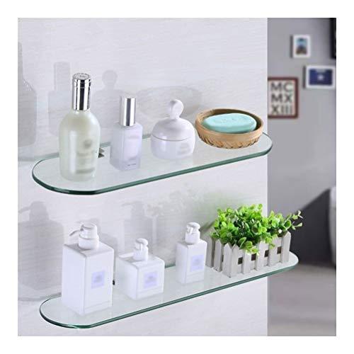 ZWJ badkamer Corner glazen rek rechthoek douche-wand planken evenwichtig glas SUS 304 roestvrij staal 30~60 cm 2 dieren 01-30