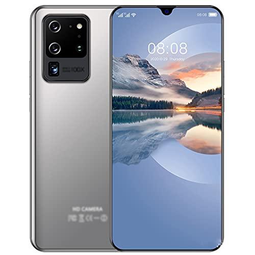 lei shop Teléfono móvil, 2G+64GB, procesador de 4 núcleos, pantalla HD de 7,1 pulgadas, SIM doble, reconocimiento de rostro, desbloqueo de huellas dactilares.