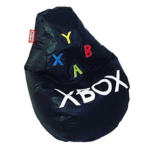 Sillon Puff Pera Gamer Xbox Mediano, soporta hasta 75kg