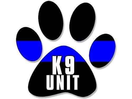 Magnet Police Blue Line PAW Shaped k9 Unit Magnetic Sticker (cop Stripe k-9)