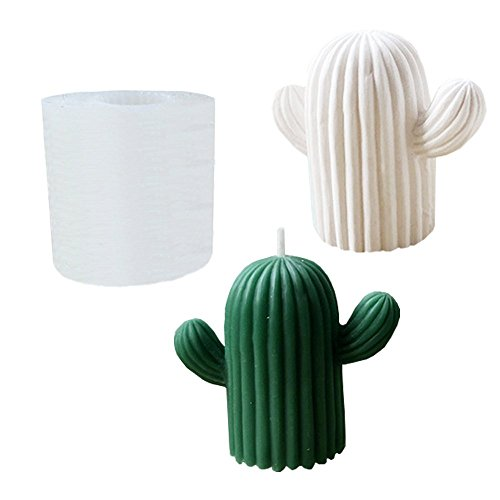 Plant Mold Silicone Cactus Candle Molds for Novel Funny DIY Candle Aromatherapy Fragrance Making and Plaster Molding