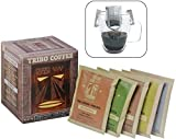 Tribo Coffee Single-Serve Portable Pour Over Drip Coffee - Specialty Grade - Variety - 10 Servings Per Box (Light, Medium & Med-Dark Roasts)