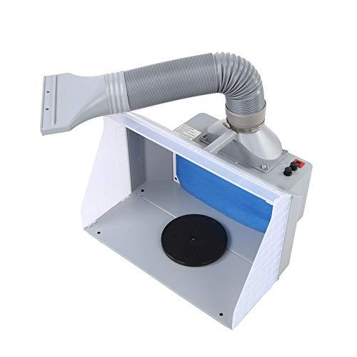 Cabina de pintura con aerógrafo-Kit de cabina de pintura con aerógrafo Filtro extractor de cabina de pintura artesanal 100-220V