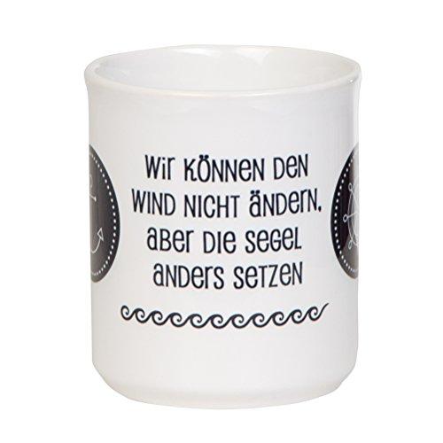 Formschöne Kaffeetasse WIR KÖNNEN DEN Wind Nicht ÄNDERN mit maritimen Design für Segler - spülmaschinenfest aus Keramik - von tassenWERK.com